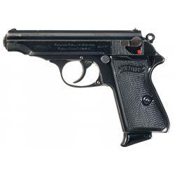 Desirable Pre-War Walther PP Semi-Automatic Pistol in Rare  6.35 mm  (25) Auto Caliber