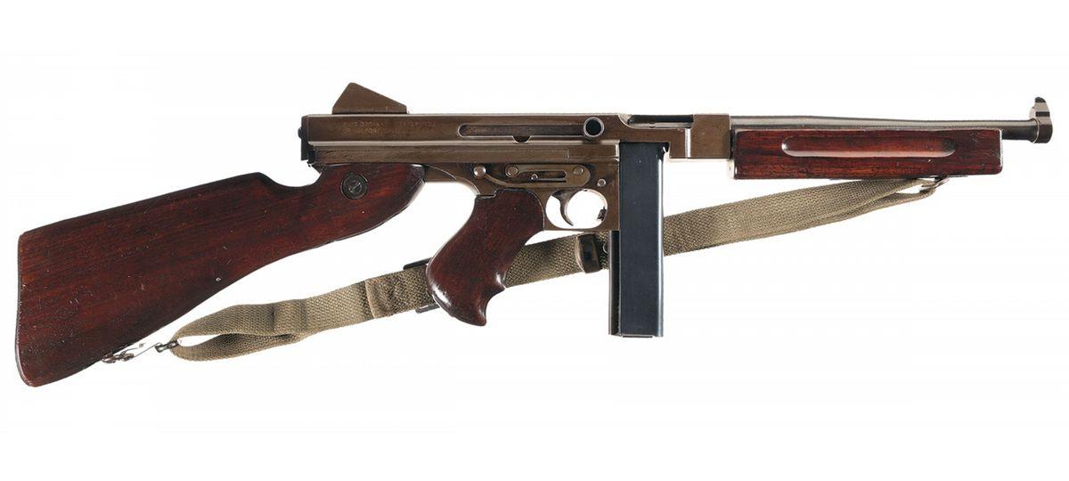 Exceptional World War II Thompson M1A1 Submachine Gun with Accessories