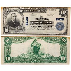 $10 1902 PB. The Colton National Bank. Charter #8608. Fine to Very Fine., CA - Colton,