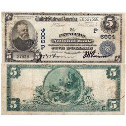 $5 1902 PB. The Petaluma National Bank. Charter #6904. Very good/fine., CA - Petaluma,