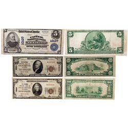 National Bank Notes, CA - Sacramento,