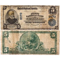 $5 1902 The First National Bank of Vallejo. Charter #9573. Very Good, Tears., CA - Vallejo,