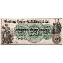 25C 1862 Banking House of C.A. Cook & Co., CO - Denver,