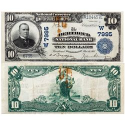 $10 1902 The Berthoud National Bank. Charter #7995w. Very Fine, Stained., CO - Berthoud,