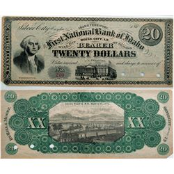 First National Bank of Idaho Bank Note *Territorial*, ID - Boise City,