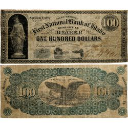 First National Bank of Idaho, Durell & Moore Note *Territorial*, ID - Boise City,