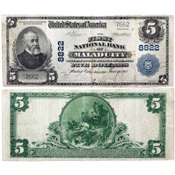$5 1902 PB The First National Bank. Charter #8822. PMG 25 Very Fine., ID - Malad City,