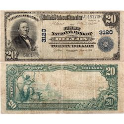 $20 1902 PB The First National Bank. Charter #3120. Very Good., MT - Dillon,