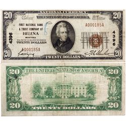 Helena $20 Bank Note, MT - Helena,Lewis and Clark County