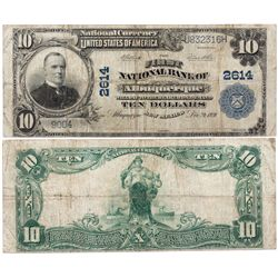 $10 1902 PB First National Bank. Charter #2614. Fine., NM - Albuquerque,