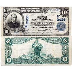 $10 1902 The First National Bank. Charter # 2436. Very Fine., NM - Las Vegas,