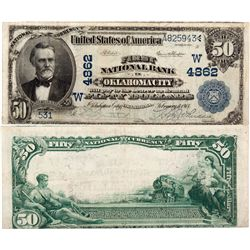 $50 1902 The First National Bank. Charter # 4862W.  Fine., OK - Oklahoma City,