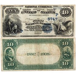 $10 The First National Bank. 1902 PB. Charter #5747. Fine., OR - Ashland,