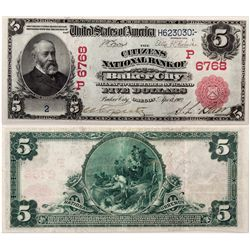 $5 1902 The Citizens National Bank. Charter #6768. PMG 30 Very Fine (EPQ)., OR - Baker City,