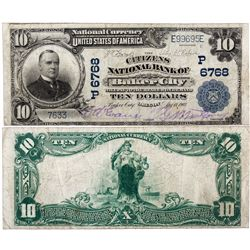 $10 1902 PB The Citizens National Bank. Charter #6768. Fine/Very Fine., OR - Baker City,