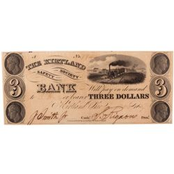 $3 1837 The Kirtland Safety Society Bank. PMG 30 Very Fine., UT - Kirtland, OH,
