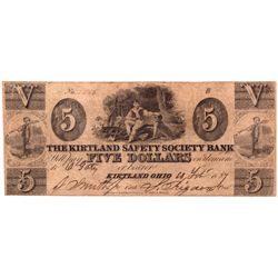 $5 1837 The Kirtland Safety Society Bank. PMG 12 Fine., UT - Kirtland, OH,Lake County