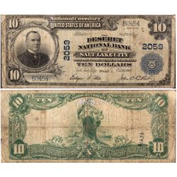 $10 National Currency from the Deseret National Bank of Salt Lake City, UT - Salt Lake City,