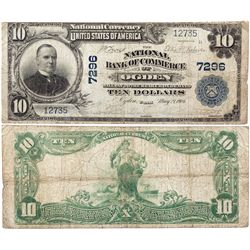 $10 1902 The National Bank of Commerce. Charter # 7296. Very Good., UT - Ogden,