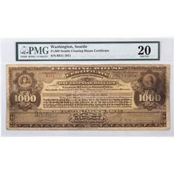 Seattle Clearing House Currency Certificate, WA - Seattle,
