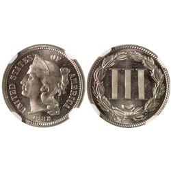 1882 3 cent nickel