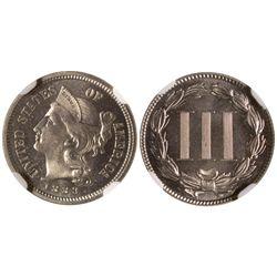 1883 3 cent nickel