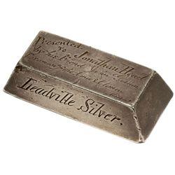 Jonathan Head, Amie and Climax Mine, Leadville Silver Ingot, CO - Leadville,