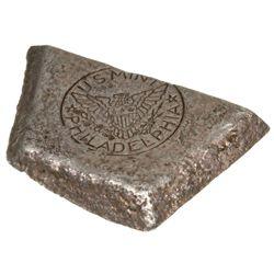 Philadelphia Mint Assay Bar Fragment, PA - Philadelphia,