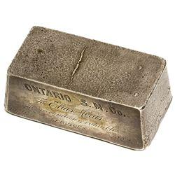 Ontario Silver Mining Co. of Park City, Utah, and Elias Morris of Salt Lake City, UT - Salt Lake Cit