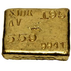 St. John d'el Rey Mining Company Gold Ingot,  - Minas Gerais, Brazil,