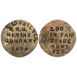 W.H.R. Mining Co. Gold Ingot