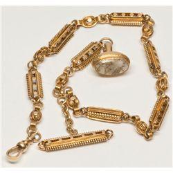 Gold Chain with Quartz