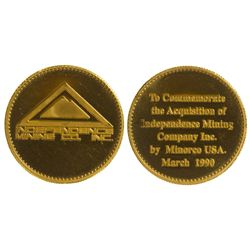 Independence  Mines Co. Inc Medallion