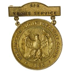 Washington Light Infantry Engraved Gold Service Medal,  - ,