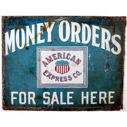 1916 American Express Money Orders Porcelain Enamel Sign