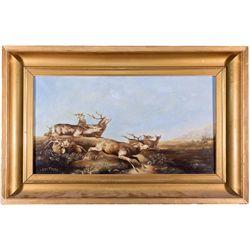 Alfred Jacob Miller Elk Oil Painting