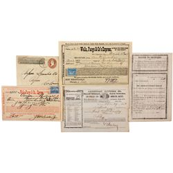 Express Receipts and Covers Grouping 1853-1899,  - ,
