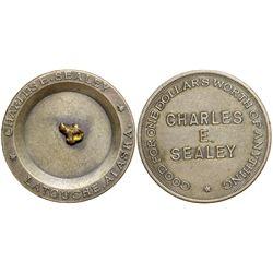Charles E. Sealey Gold Nugget Token, AK - Latouche,