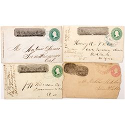 California Express Covers Grouping, Wells Fargo and Bamber Express, CA - ,