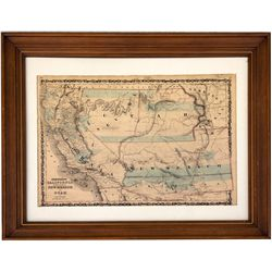 Johnson California Map, CA