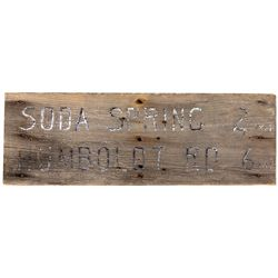 Painted Wooden Sign for Humboldt Road and Soda Springs, CA - ,