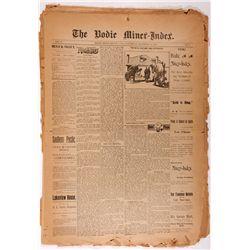 Bodie Miner-Index & Bridgeport Chronicle Union Newspapers, CA - Bodie,Mono