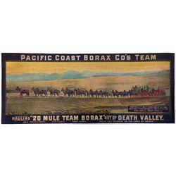 20 Mule Team Broadside, CA - Death Valley,Inyo County