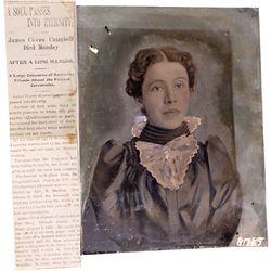 Pioneer Woman Tintype, CA - Fort Jones,Siskiyou County