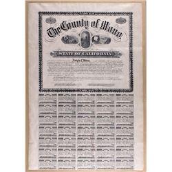 Californian Bond Certificate, CA - Mono County,