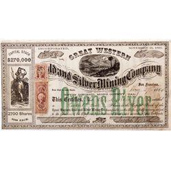 Great Western Mining Co. Certificate, CA - Mono County,