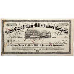 Santa Clara Valley Mill & Lumber Company Stock, CA - San Jose,Santa Clara