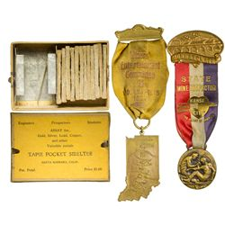 Tapie Pocket Smelter Kit and Mining Medals, CA - Santa Barbara,