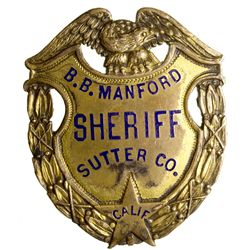 Sutter County Badge, CA - Sutter County,