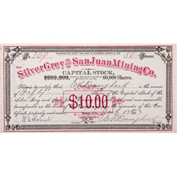 Silver Grey and San Juan Mining Co. Stock, CO - ,
